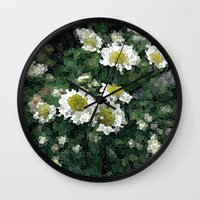 pushing daisies Wall Clocks featuring Pushing Daisies  by Little Krampus