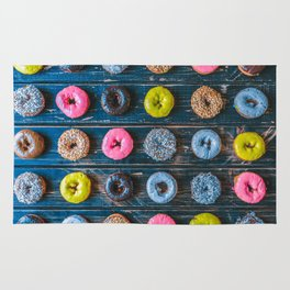 Vegan Donut Party Rug