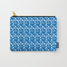 Lattice Pattern (Blue) Carry-All Pouch