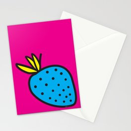 Strawberrious - Cyan/MAGENTA Stationery Cards