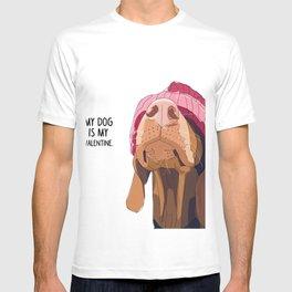 Vizsla Valentine T-shirt