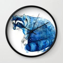 Starry Raccon Wall Clock