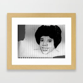 pretty faces always seem to stand out from the crowd Framed Art Print