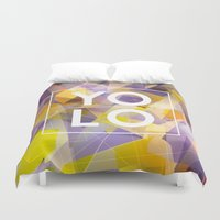 yolo Duvet Covers featuring Dreams of YOLO Vol.1 by HappyMelvin