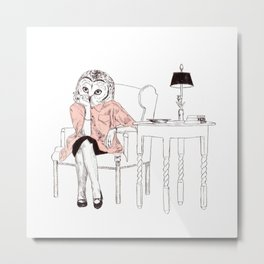 Bestial lonely lady Metal Print
