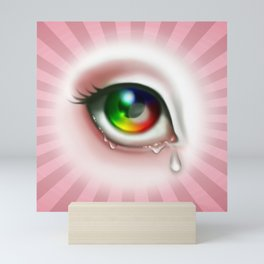 Rainbow Eye - Cry for Me Mini Art Print