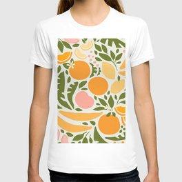 Modern Fruits / Retro Abstraction T-shirt