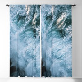 Wave in Ireland during sunset - Oceanscape Blackout Curtain