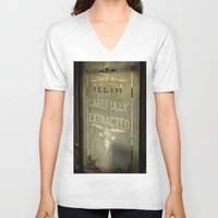dentist V-neck T-shirts featuring Victorian Dentist Sign by Adrian Evans