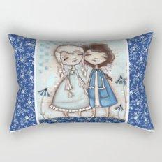 When I Am Blue - by Diane Duda Rectangular Pillow