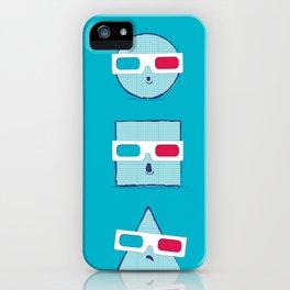 3D Shapes iPhone Case