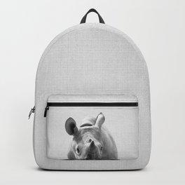 Baby Rhino - Black & White Backpack