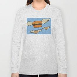 Bob's Burgers Flying Hamburger picture Long Sleeve T-shirt