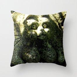 Scary cat 001 Throw Pillow