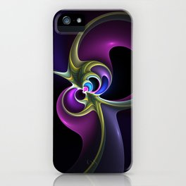The Experiment, Abstract Fractal Art iPhone Case