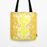 botanical Tote Bags featuring Botanical by Ingrid Castile