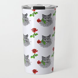 Valentine's Cat Travel Mug