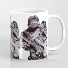 Master Chief Pen Drawing Coffee Mug