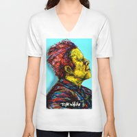 tom waits V-neck T-shirts featuring Tom Waits by Alec Goss
