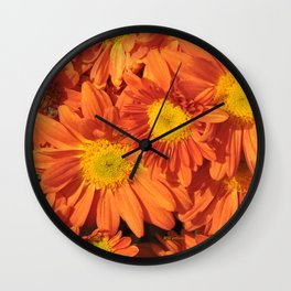 Petals a L'orange Wall Clock