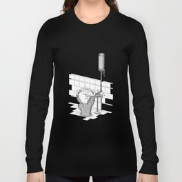 patent art Rhodes Water Closet 1899 Long Sleeve T-shirt