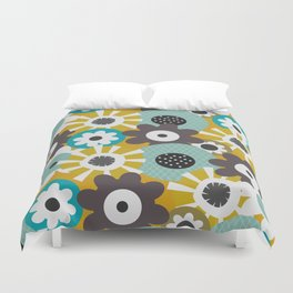 Sunny floral day Duvet Cover
