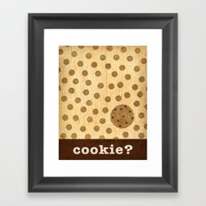 cookie? Framed Art Print