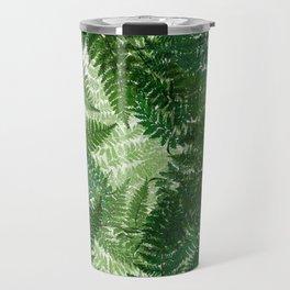 green big jungle leaves Travel Mug