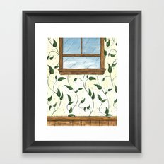 Vine Wallpaper Framed Art Print