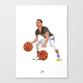 Steph Curry - NBA CUBISM Canvas Print