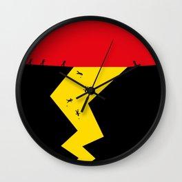 Pika_Chu Go - cool art poster, Truth, Scandinavian, Illustration, Fine Art, Cute Quirky Gif Wall Clock