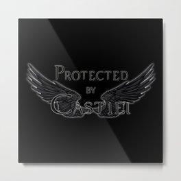 Protected by Castiel Black Wings Metal Print