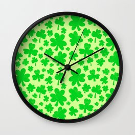 Shamrock showers Wall Clock