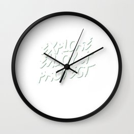 Explore Enjoy & Protect - National Parks Wall Clock