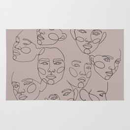 Hidden faces Rug