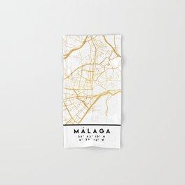 MALAGA SPAIN CITY STREET MAP ART Hand & Bath Towel