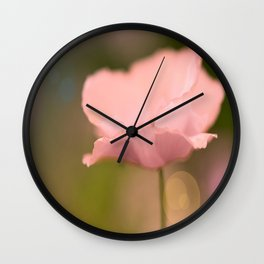 Dreamy Pink Poppy #decor #buyart #society6 Wall Clock