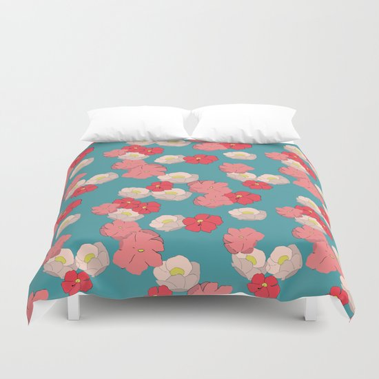 Blooming graphic Duvet Cover