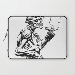 Military zombie - Skull military - zombie illustration Laptop Sleeve