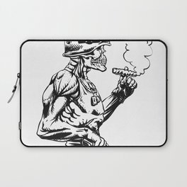 Military zombie - Skull military - zombie illustration Laptop Sleeve