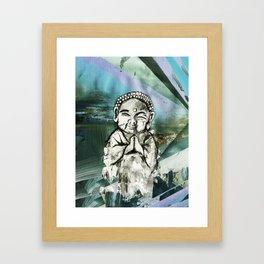 LET IT BE BUDDHA BLUES Framed Art Print
