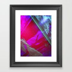 Signs in the Sky Collection III- Streaks and lights Framed Art Print