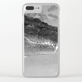 Crocodile Smile Clear iPhone Case