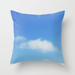 Snow and clouds in Iceland Throw Pillow