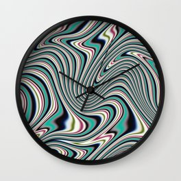 Colorful ink liquid marble Wall Clock