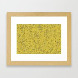 Dots Ochre Framed Art Print