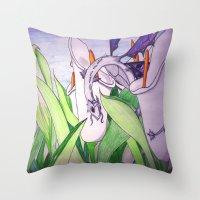 tina fey Throw Pillows featuring Little Fey Dragon by phoenixoftheashes
