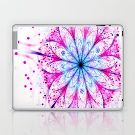 Winter Pink glittered Snowflake Laptop & iPad Skin