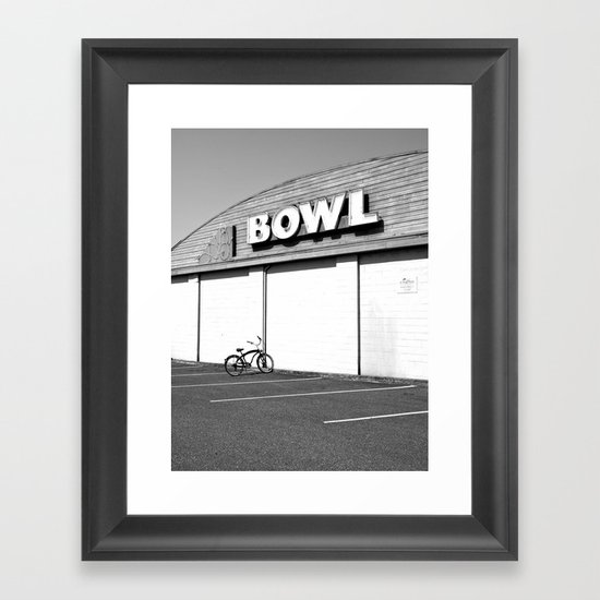 Out bowling Framed Art Print