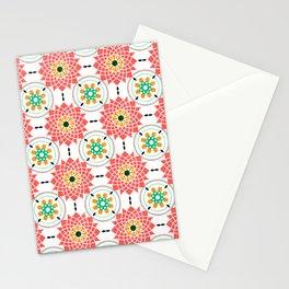 morrocan pink mandala pattern no4 Stationery Cards